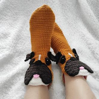 Вязаные носки-мопсы р. 30-39