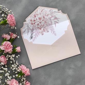 Конверт з дизайнерського паперу Sirio з квітковим лайнером