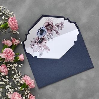 Конверт з дизайнерського паперу Materica з квітковим лайнером