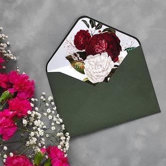 Конверт з дизайнерського паперу Artelibris з квітковим лайнером