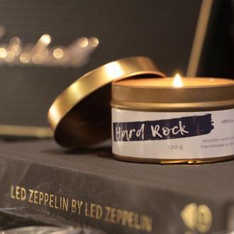 Hard Rock- ароматическая  свеча с деревянным фитилём