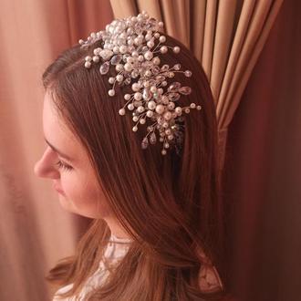 Свадебный ободок, свадебная тиара, свадебная диадема, корона для невесты