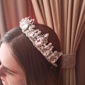 Свадебная диадема для невесты, корона для невесты, свадебная тиара для невесты, свадебный гребень