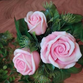 Мыльный букет Розовая нежность