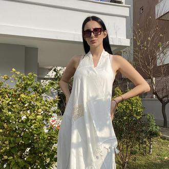 Летнее платье, накидка для пляжа, летний сарафан