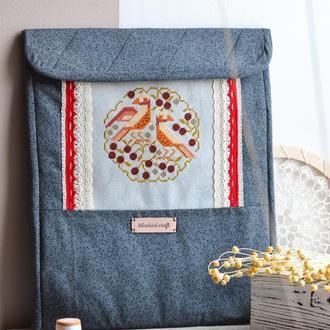 Текстильный конверт - органайзер  для хранения вышивки