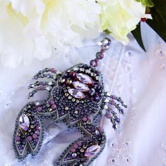 """Брошь зодиак """"Скорпион"""", подарок дочке, внучке, подарок на День рождения по гороскопу"""