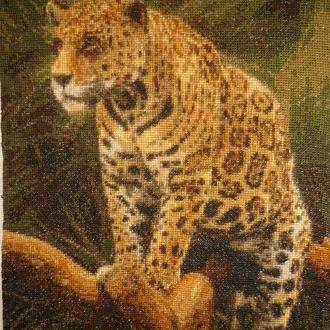 Картина Леопард Вышивка Крестиком