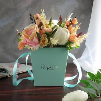 """Букет """"Персиковая Камея"""" Подарок девушке на 8 марта. Подарок маме. Подарок коллеге"""