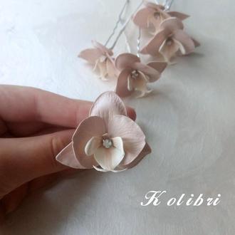 Шпильки для волос с орхидеями