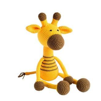 Жираф. Первая игрушка для малыша. Подарок новорожденному. Эко-игрушка.