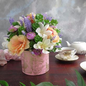 """Букет """"Английский сад"""". Подарок маме на 8 марта"""