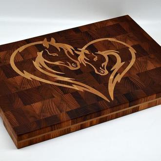Доска торцевая разделочная, торцевая доска, разделочная торцевая доска, доска торцевая для кухни