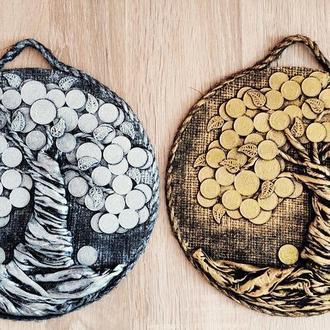 Комплект из 2 монетных денежных деревьев