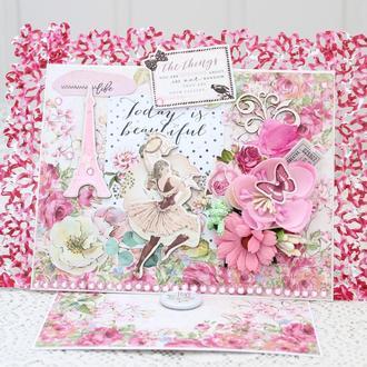 Открытка  с 8 Марта , женская открытка , подарок на 8 Марта