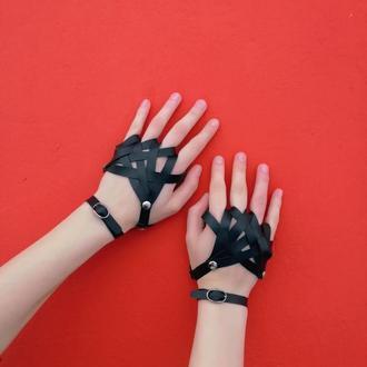 Перчатки из эко-кожи