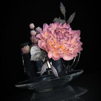 Подарочная чашка с цветами