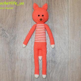 Вязаная игрушка Лис