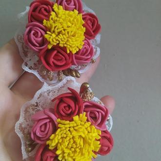 """Красивые нарядные резиночки """"букет роз"""""""
