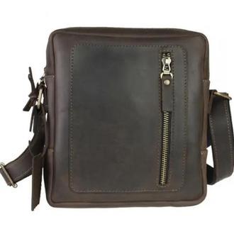 Именная мужская сумка Вертикаль, 4 цвета