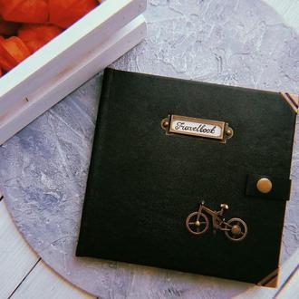 """Мужской кожаный блокнот """"Travel book"""""""