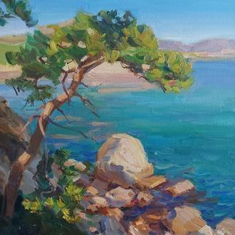 Картина олійними фарбами морський пейзаж