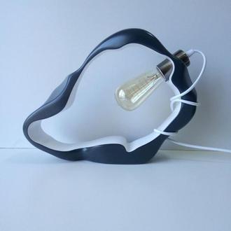 Оригинальная деревянная настольная лампа. Дизайнерская лампа ручной работы. Декоративное освещение