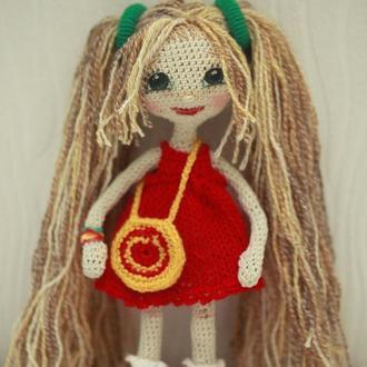 Кукла Любаша с сумочкой