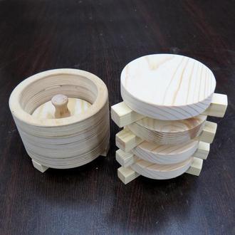 """Набор пресс-форма для суши """"Циндао 1"""" + 4 основы"""