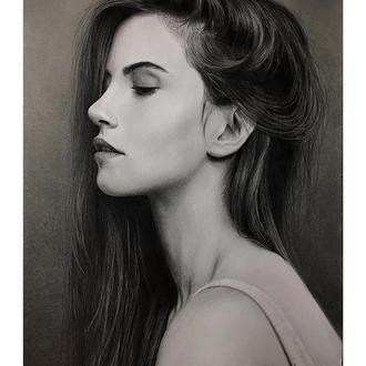 Портрет по фото простым карандашом