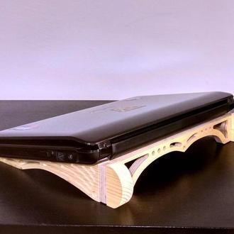 Деревянная подставка столик для ноутбука