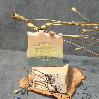 Органическое мыло  с 3-мя глинами)🎁☘️☘️