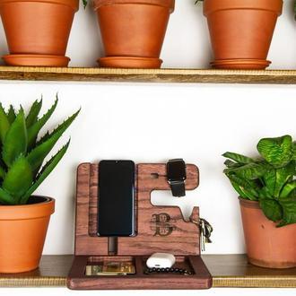 Подставка для ключей, для телефона, для часов, подарок на день рождния
