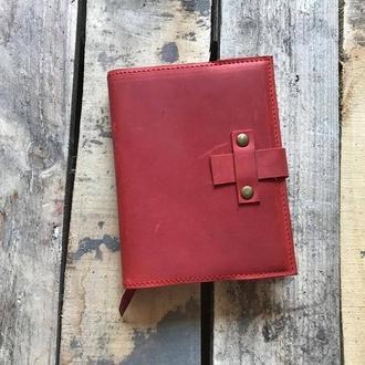 Ежедневник из красной винтажной кожи