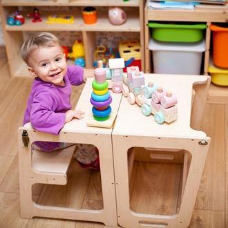 Детский столик трансформер 2 в 1 - Башня маленького помощника Монтессори 1