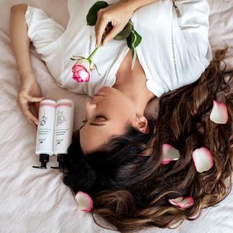 """Натуральный бальзам для волос без силиконов """"Роза и бергамот"""" 150 мл ручная работа"""