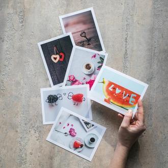 Набор открыток с Днем Валентина postcrossing