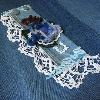 Джинсовий браслет манжета