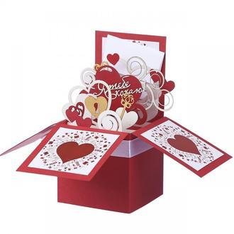Объемная коробочка валентинка Кохаю