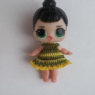 Платье для куклы 8см, для Лол, для пупсика. Одежда для куклы LOL Surprise