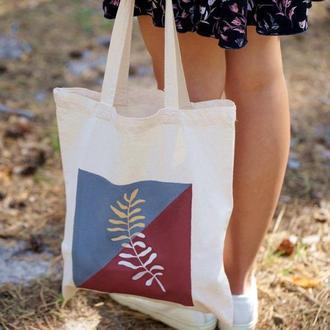 Сумка-шопер, хлопковая сумка, сумка для покупок, екосумка, женская сумка