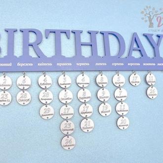 Календарь дней рождений