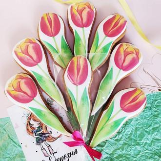 Пряник тюльпан
