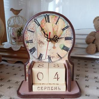 """вечный календарь-часы """"Бон вояж"""""""