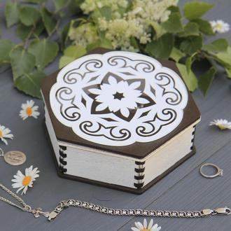 Шкатулка для украшений, органайзер для ювелирных изделий, подарок