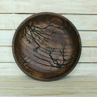 Тарілка із дерева/тарелка/конфетница