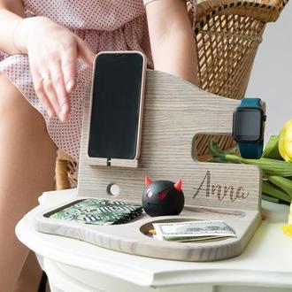 Подставка для телефона, подарок жене, подарок коллеге, офисный органайзер