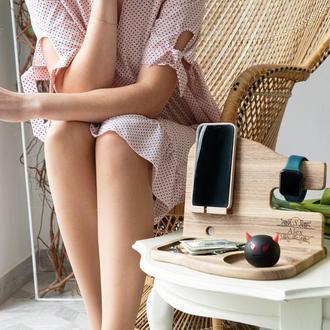 Подставка для телефона, настольный органайзер, деревянный органайзер