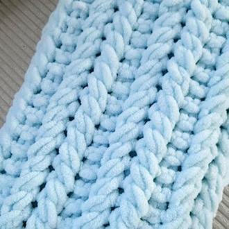 Продам детский плед-зефирка (одеяло) гипоалергенный из пряжи ализе пуффи