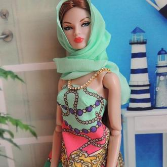 Платье и косынка для кукол Fashion Royalty, Barbie